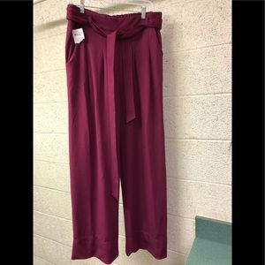 NWT Melissa McCarthy Seven7 Tie Front Trousers